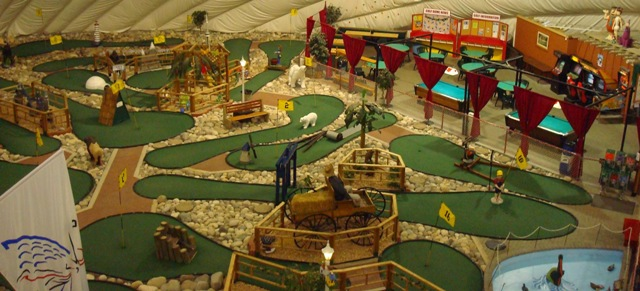 Photo of mini-golf at the Golf Dome