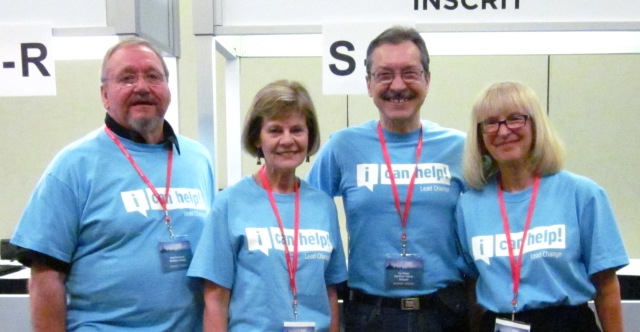 Photo of Heritage Group CICan Volunteers Gene Semchych, Joan Rew, Guy Dugas, and Leslie Walsh