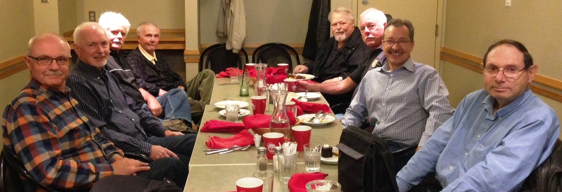 Photo of ACE Retirees (left to right): Jean-Rene, Jurgen, Doug, Keith, Valdi, John, Guy, Louis