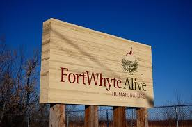 Photo of Fort Whyte sign