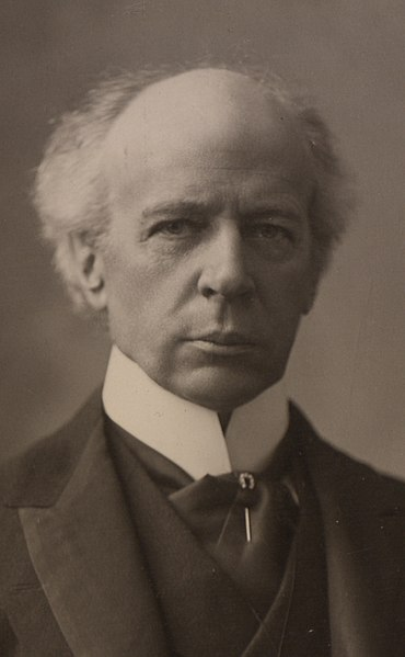 "Tight crop of original photograph - ""The Honourable Sir Wilfrid Laurier. Photo C."""