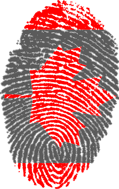 Image of a Canada thumbprint