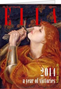 The author's daughter as a Pre-Raphaelite magazine cover on the occasion of her 30th birthday.